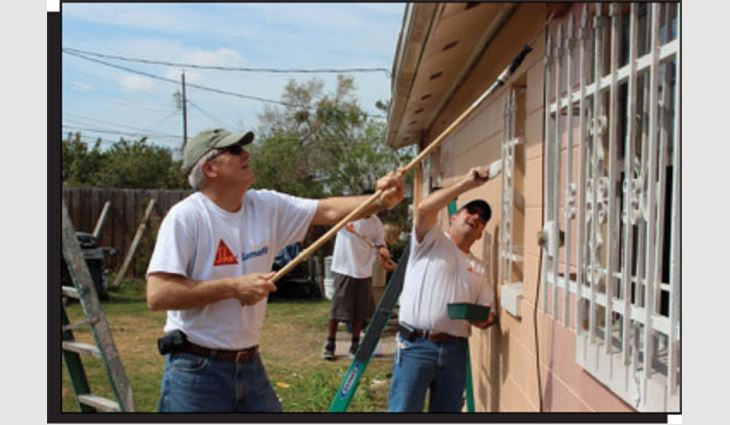 NRCA members participate in the International Roofing Expo's annual community service day in Orlando, Fla.