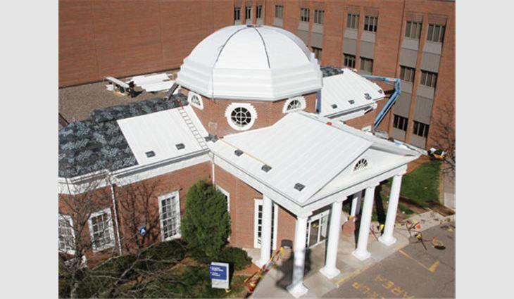 A Thomas Jefferson Monticello replica at Howard Young Medical Center