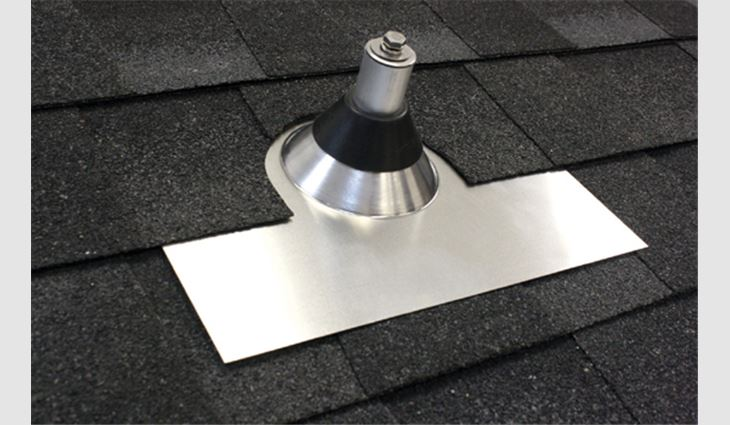 Using a fortified base-and-post method, the QBase Composition Mount makes it easy to install PV components concurrent with new roof system construction.