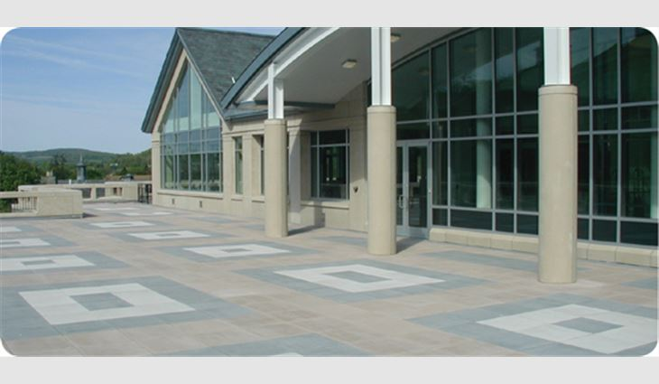 Pavers, another form of ballast, are aesthetically pleasing and can add usable space to a facility.