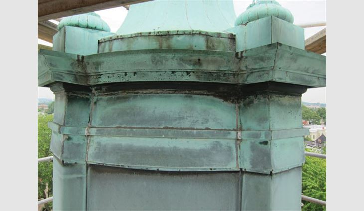 The cupola base before restoration
