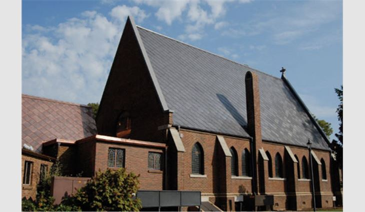 Side view of the main sanctuary