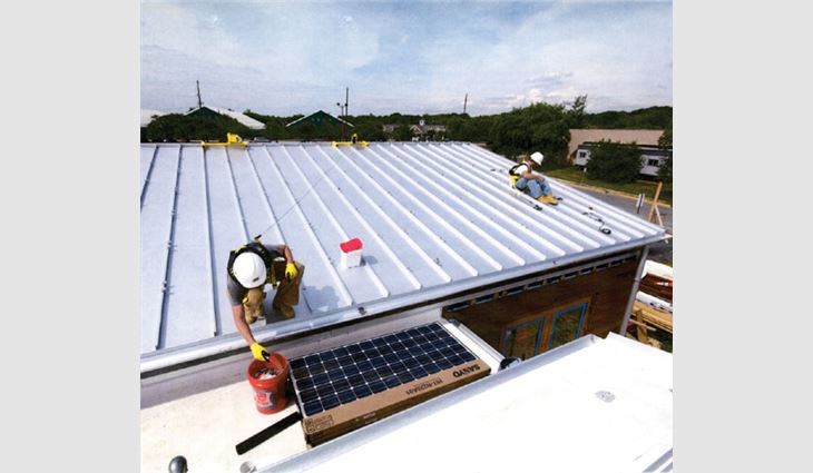 Ruff Roofers Inc., Baltimore, provided design guidance, labor and materials for the Department of Energy's Solar Decathlon.