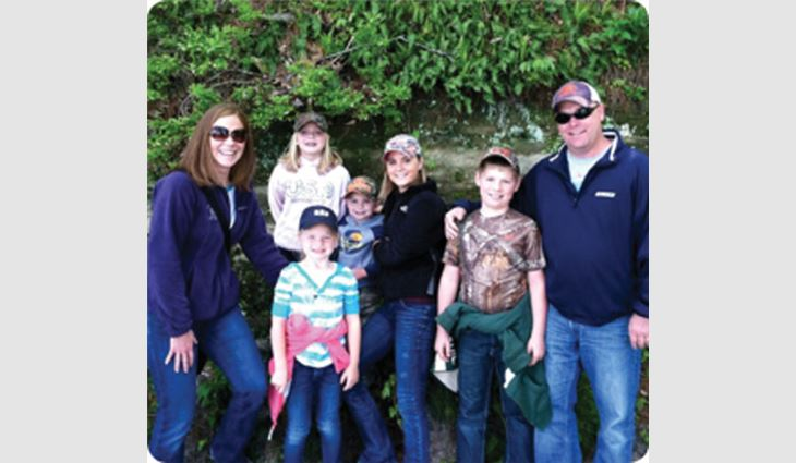 The Duffy family (from left to right): Jill, Bree, Sydeny, Troy, Kelsey, Quinn and Luke