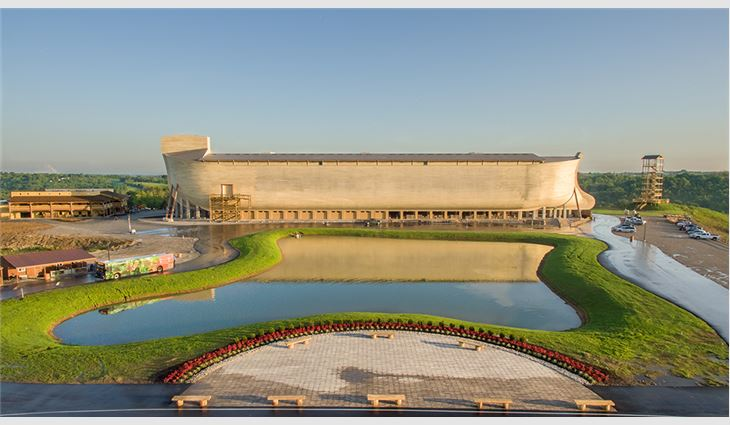 The completed ark and lake