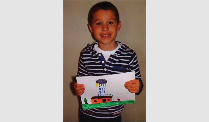 Rocky Benson, grade 2, grandson of Don Guthrie, president of Wayne's Roofing Inc., Sumner, Wash.