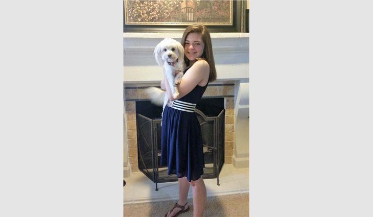 Bella Parli, grade 7, granddaughter of Jack Diamond, owner of A Good Roofer Inc., Lakeside, Calif.