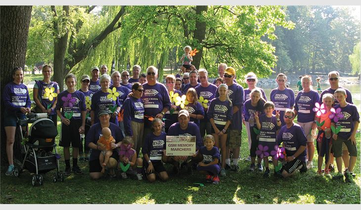 GSM Industrial, Lancaster, Pa., and GSM Roofing, Ephrata, Pa., formed a GSM Memory Marchers team and raised $56,038 through the Walk to End Alzheimer's.