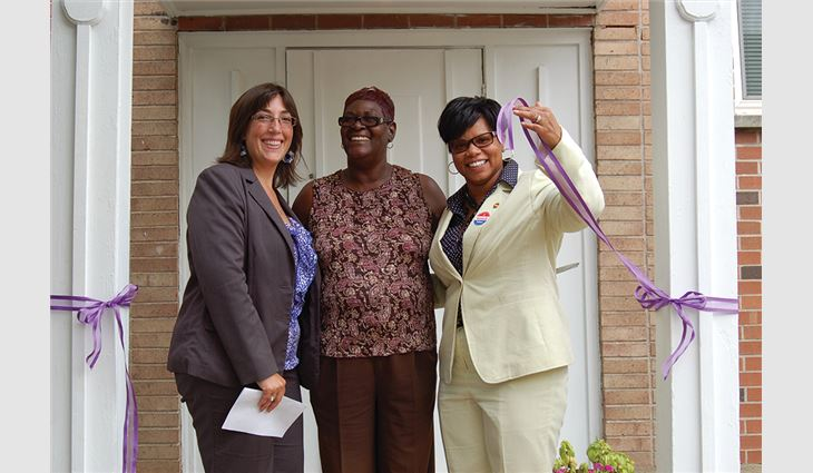 Kirberg Co., St. Louis, donated $36,000 in materials and labor to provide the Center for Women in Transition, St. Louis, a new roof system.