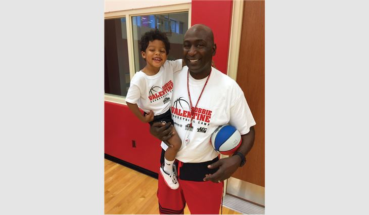 As a result of Louisville, Ky.-based Drexel Metals Inc.'s sponsorship, 40 children will attend Robbie Valentine's basketball summer camp.
