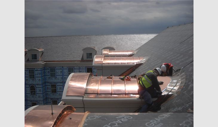 More than 100 copper dormers were fabricated