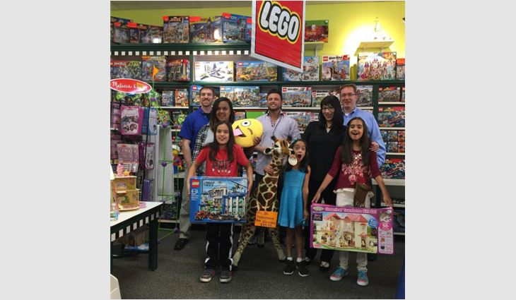 Aloha Construction Inc. organized a shopping spree for local children in need.