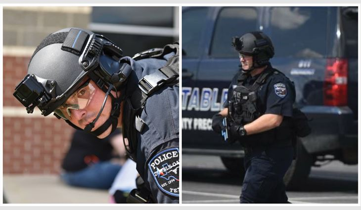 Tim Rainey, CEO of Supreme Systems Inc., helped raise funds to purchase body armor for the Double Oak, Texas, police department.