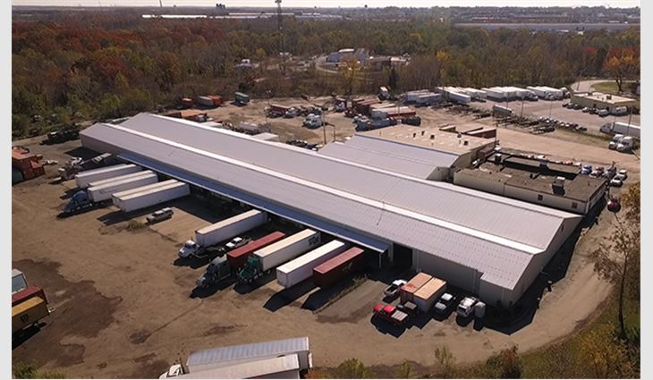 EXCEPTIONAL® Metals EM Retro-R® Panels were retrofitted on the warehouse's existing mechanically fastened PBR metal roofing panels
