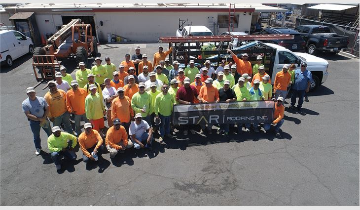 Star Roofing's field crew
