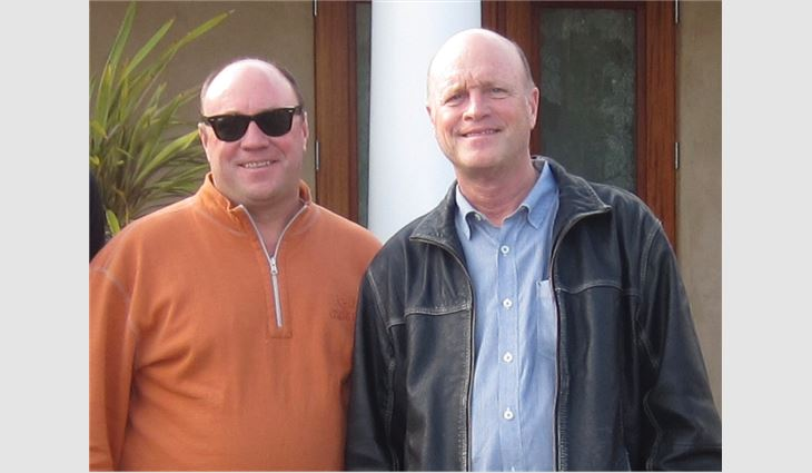 Schwickert (left) with his brother, Kim