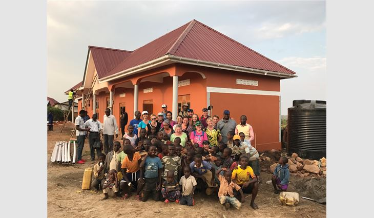 Chase Construction North West Inc., Edgewood, Wash., traveled to Uganda, Africa, to build a maternity ward for refugees.