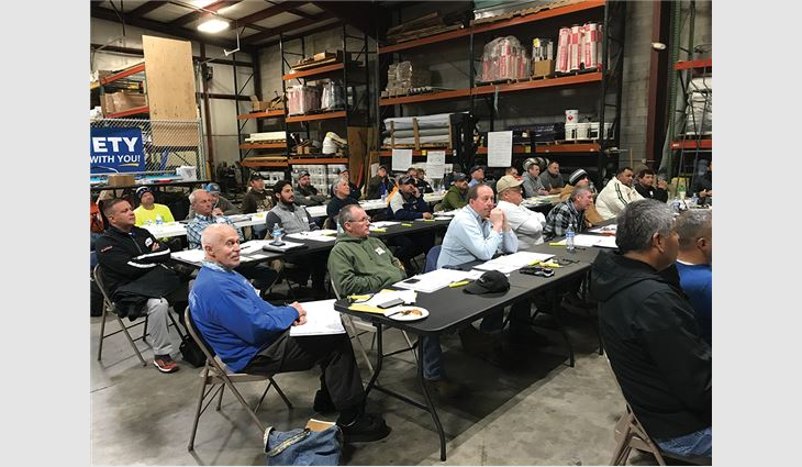 Roofing professionals attended NRCA's CERTA Train-the-trainer Authorization Program Feb. 10.