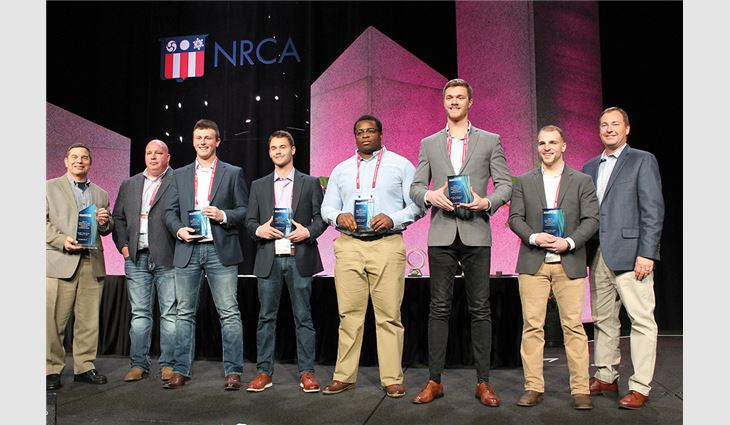 The student team from Minnesota State University won the Roofing Alliance's student competition.