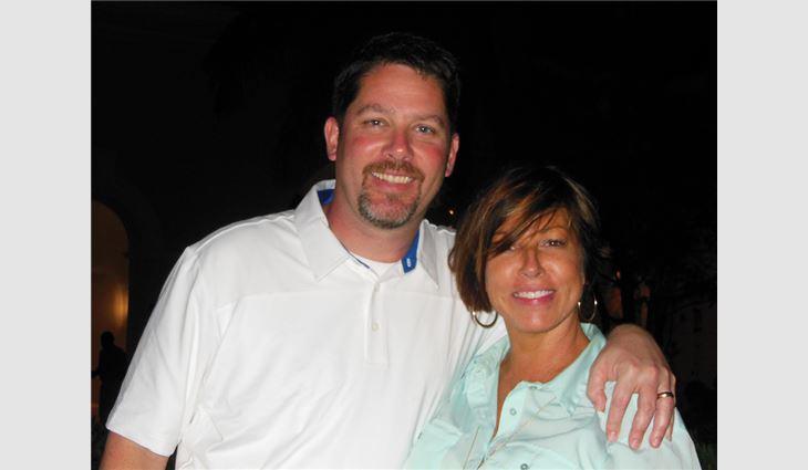 Sabino with his wife, Jennifer