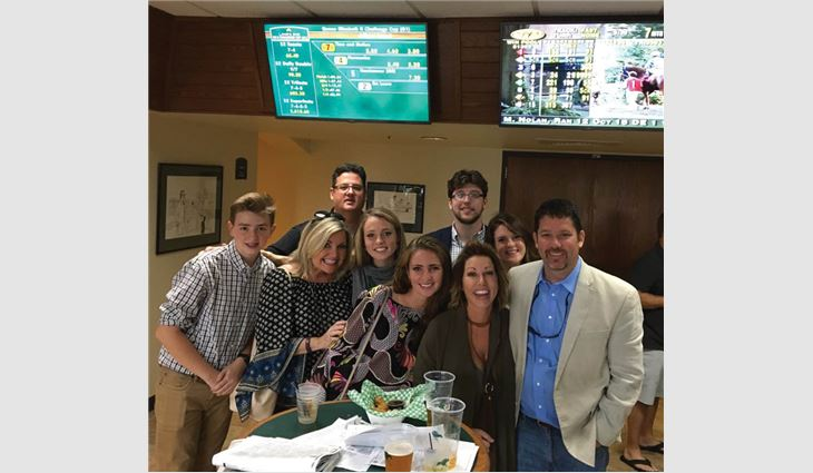 Sabino (far right) with his family from left to right: Vito, nephew; Linda, sister-in-law; Vic, brother; Gabriella, niece; Ivanna, niece; Jake, nephew; Jennifer, wife; and Ansley, Jake's girlfriend