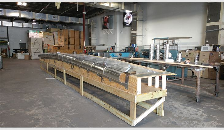 Metal pieces were custom-fabricated in Architectural Sheet Metal's off-site shop and transported to the job site.