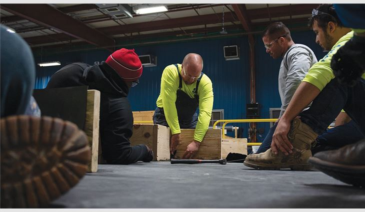 Johns Manville's training facility in Rockdale, Ill., provides hands-on installation training and serves as a testing station for NRCA ProCertification™ candidates.
