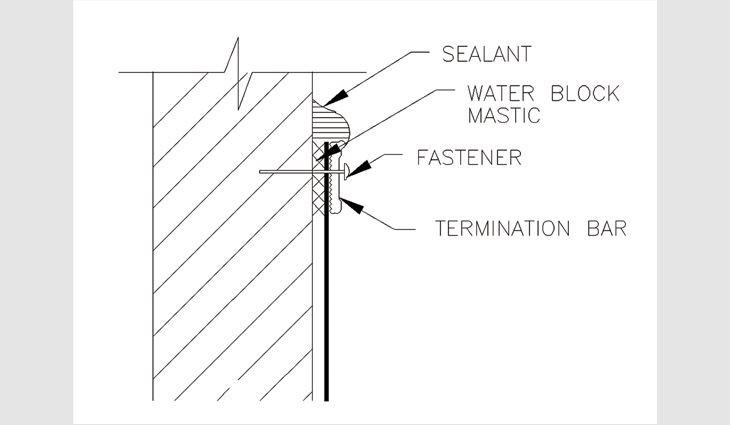 Figure 6: Typical termination bar detail