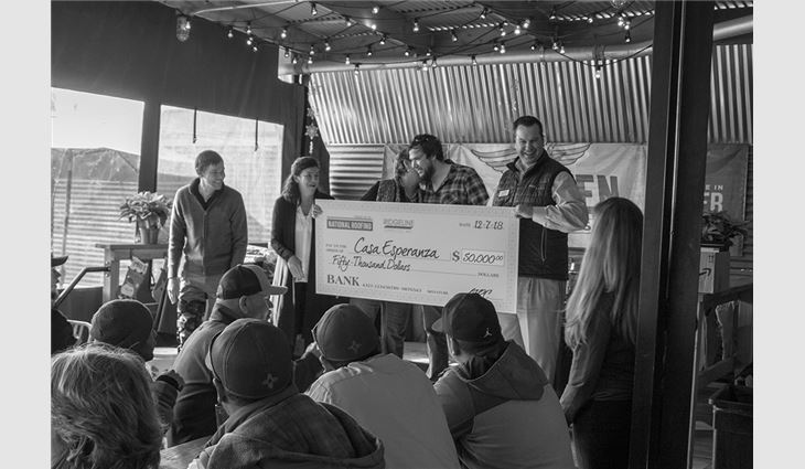 National Roofing donated $50,000 to repair Casa Esperanza after hailstorm damage forced the facility to turn away families needing housing.