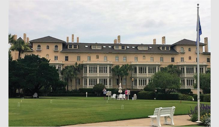 One of Jekyll Island Club Resort's new roof systems