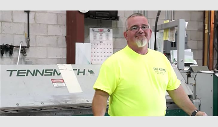 Dunlap is superintendent, warehouse foreman and equipment operator at Frost Roofing.