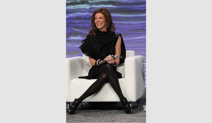 Keynote speaker Charlotte Jones, executive vice president and chief brand officer for the Dallas Cowboys, shared her insights about succeeding under pressure.
