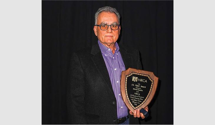 Mark Gaulin, founder of MAGCO Inc., Jessup, Md., and founding member of Tecta® America Corp., Rosemont, Ill., received NRCA's 73rd annual J.A. Piper Award.