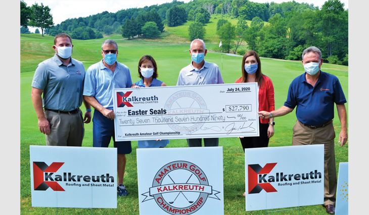 When Easterseals of the upper Ohio valley had to cancel its annual charity event because of COVID-19, employees at Kalkreuth Roofing and Sheet Metal held a companywide event that raised $27,790 for the organization.