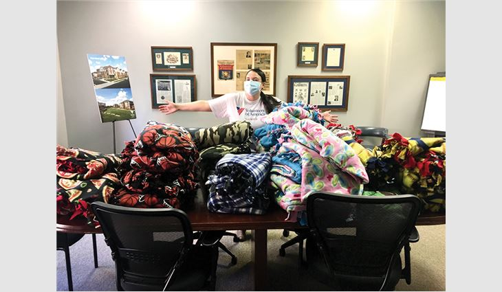 Legacy Restoration turned its traditional in-person team efforts into companywide virtual events that resulted in 300 blankets handmade for foster children and veterans, as well as quarterly donations for foster families and veterans in need.
