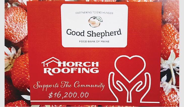 Horch Roofing donated $200 for every residential contract signed during the months of June and July and raised $16,200 for Good Shepherd Food Bank.