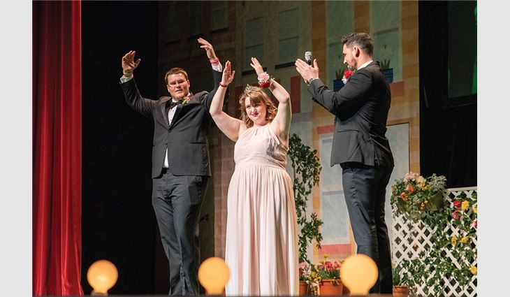 Christian Roofing and Remodeling used its resources to construct a three-story set for Extra Special People's Big Hearts in Bloom fundraiser pageant.