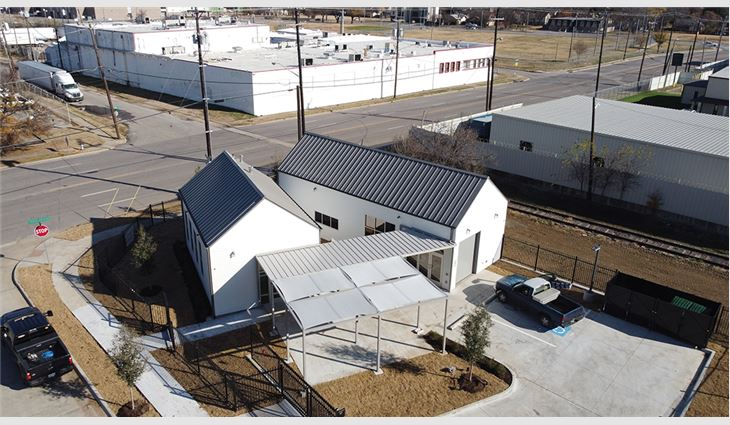 When employees at TXO Restoration learned SoupMobile needed help building a food pantry to serve the community, they didn't hesitate to offer roofing expertise, financial support and labor to install metal roof systems on two buildings.