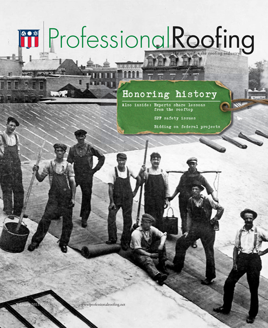 Professional Roofing Magazine 2/1/2011