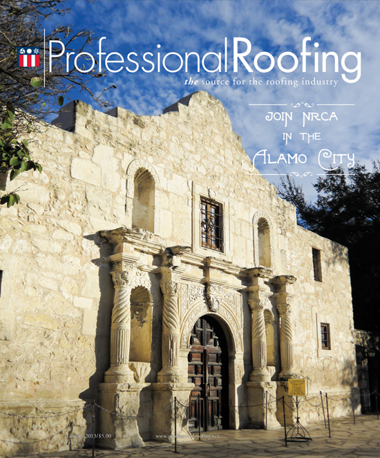 Professional Roofing Magazine 1/1/2013