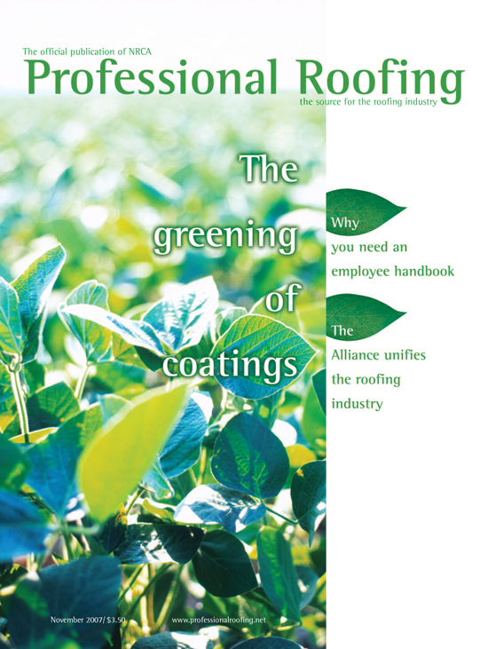 Professional Roofing Magazine 11/1/2007