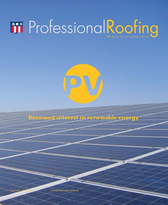 Professional Roofing Magazine 9/1/2009