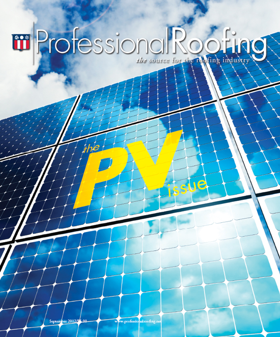Professional Roofing Magazine 9/1/2012