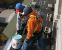 Such great heights - Indianapolis Roofing & Sheet Metal reroofs a Hilton Garden Inn®